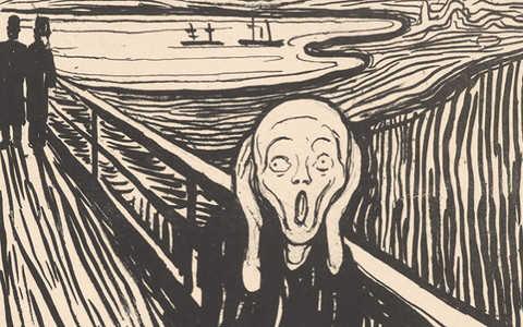 """""""Love and angst"""" Edvarda Muncha w British Museum"""