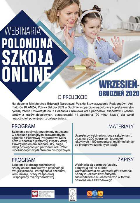 Polonijna Szkoła Online - webinaria