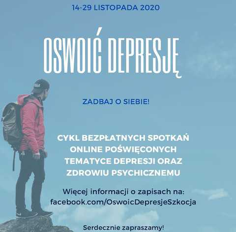 Oswoić Depresję: 26 bezpłatnych wydarzeń online dla Polaków w Wielkiej Brytanii