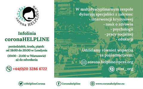 Corona HELPLINE.eu - wsparcie dla Polaków w czasie pandemii