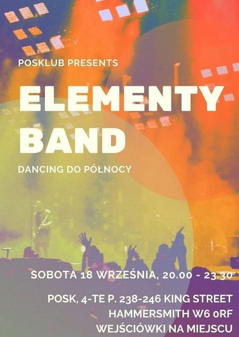 Sobotnia zabawa w POSKlubie z zespołem Elementy