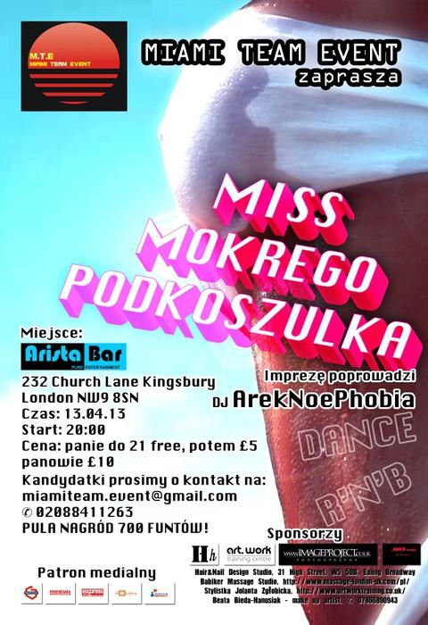 Wybory Miss Mokrego Podkoszulka