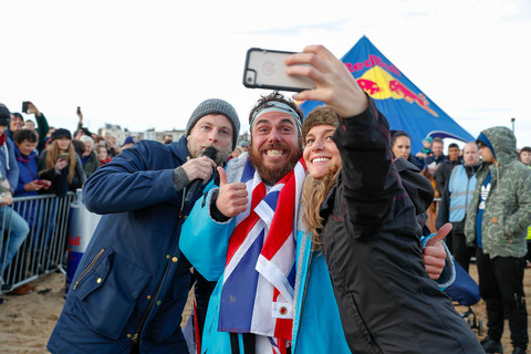Ross Edgley sets record for round Great Britain swim