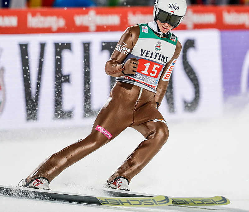 Polish ski jumpers in the center of competition in Seefeld