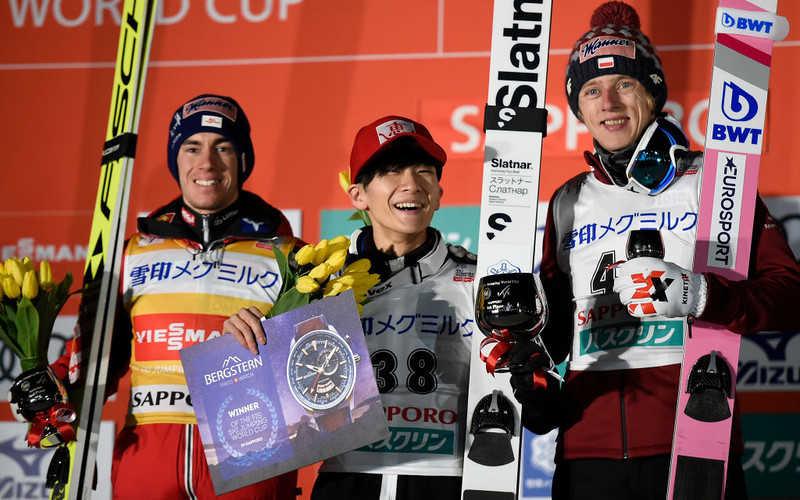 PŚ w skokach: Kubacki trzeci w Sapporo, wygrał Sato