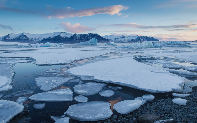 Russia: The amount of ice in the Arctic fell to a minimum in July