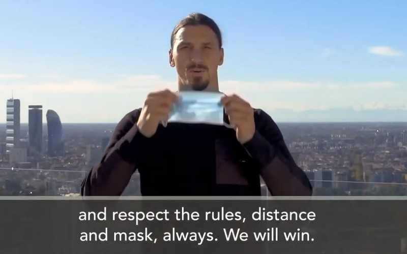 'You are not Zlatan, do not challenge the virus'