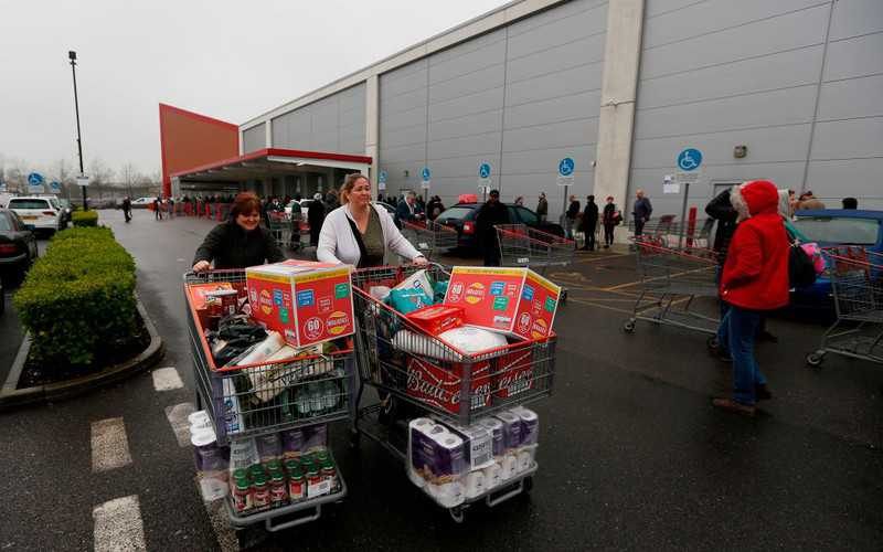 Shoppers urged not to panic buy as Tesco, Asda, M&S and Sainsbury's stockpile essentials