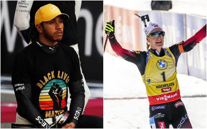 """The Team"" names Lewis Hamilton and Marte Olsbu Roeiseland as its 2020 World Champions Champions"