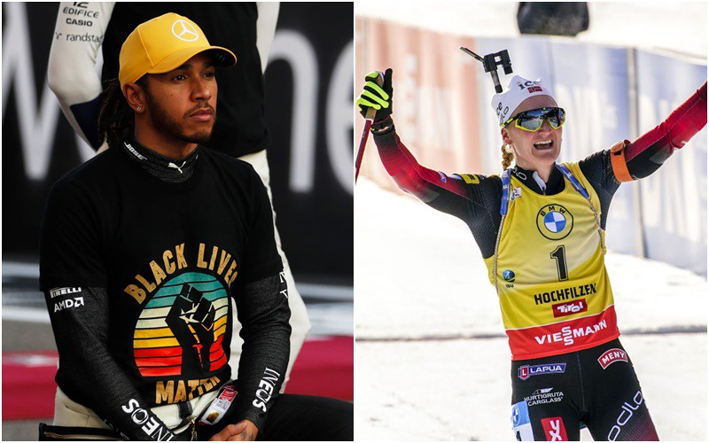 """""""The Team"""" names Lewis Hamilton and Marte Olsbu Roeiseland as its 2020 World Champions Champions"""