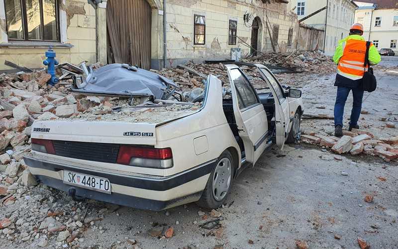 Earthquake of magnitude 6.4 strikes near Zagreb, Croatia