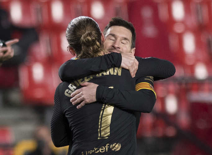 Messi, Griezmann both 9/10 as Barcelona continue winning run with rout of Granada