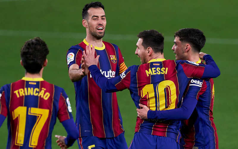 Messi led Barcelona to victory over Betis