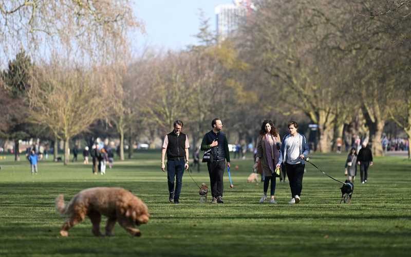 """Tłumy londyńczyków w parkach. Zalecenie """"zostań w domu"""" coraz bardziej ignorowane"""