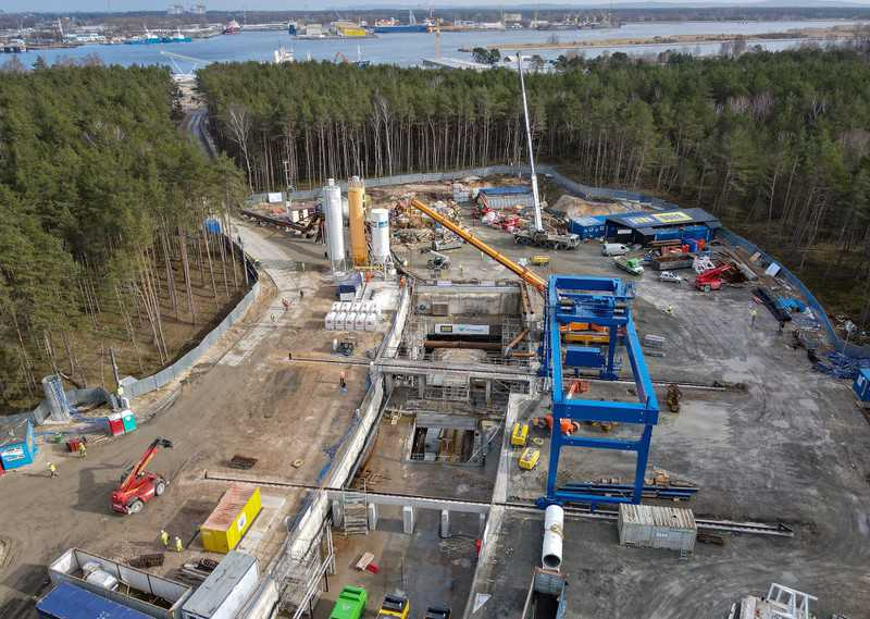 The drilling of the tunnel in Świnoujście has started