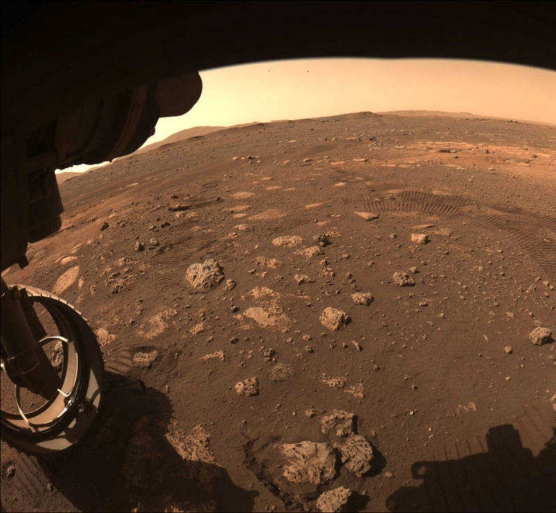 The first Perseverance ride on the surface of Mars