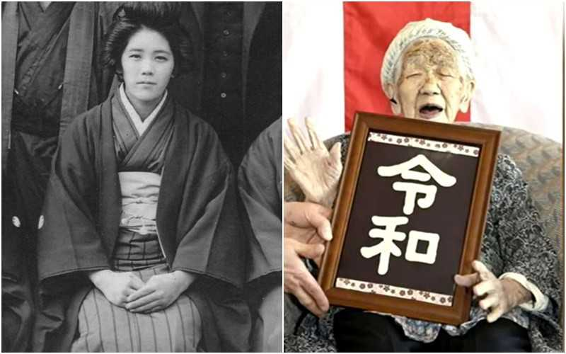 Tokyo: The world's oldest inhabitant, 118-year-old Tanaka,  in the relay