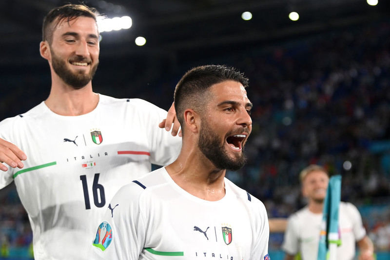 Italians got wings after their victory over Turkey