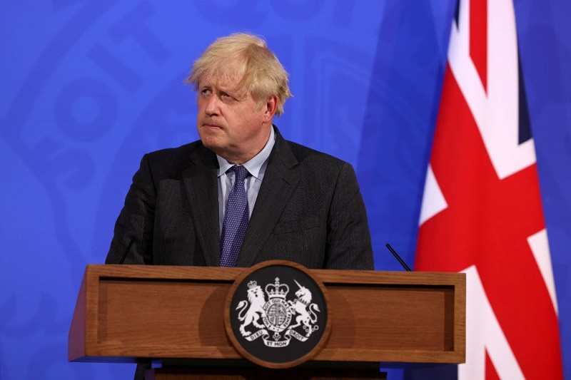 UK PM Johnson delays full easing of lockdown restrictions by four weeks