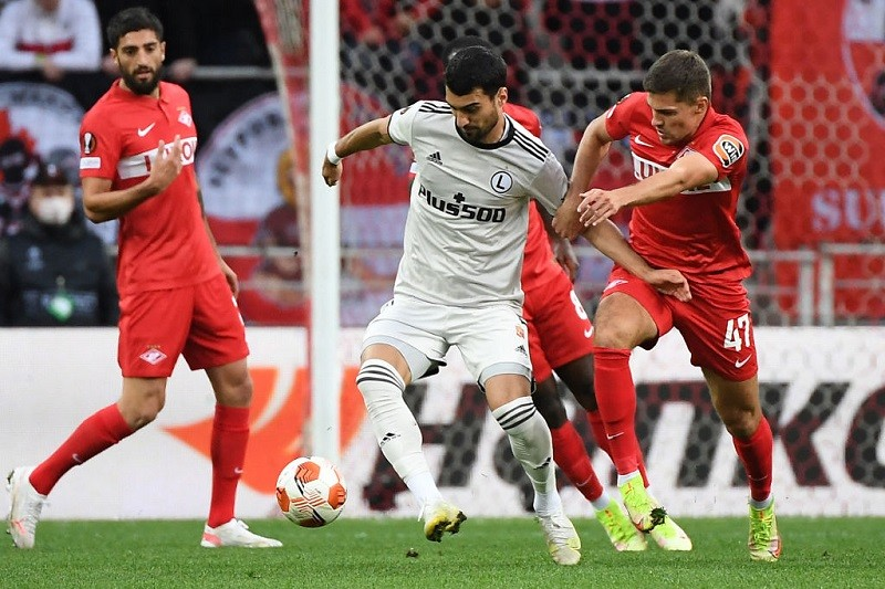 Football: Legia Warsaw wins in extra time with Spartak Moscow