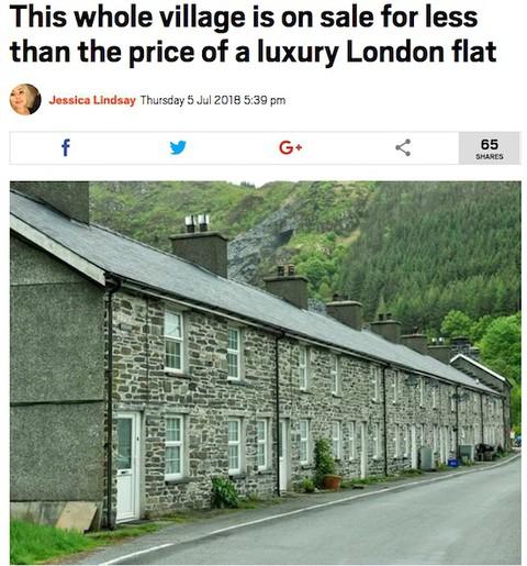 Wieś w Walii w cenie luksusowego mieszkania w Londynie