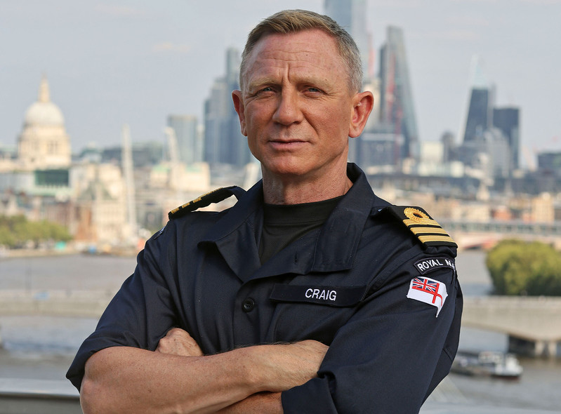 Daniel Craig otrzymał stopień komandora Royal Navy!